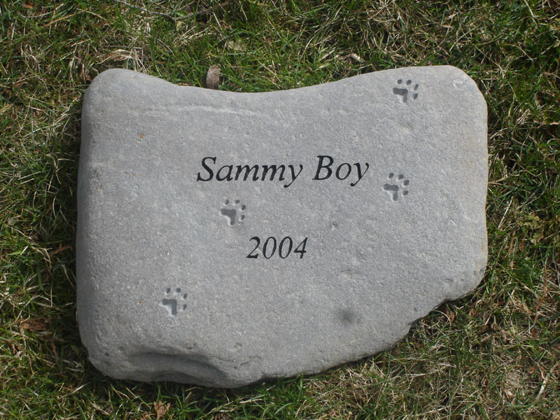 Garden Stones Pet Memorials by On the Rocks